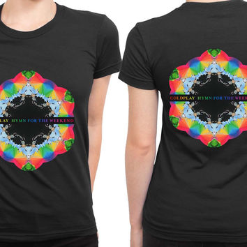Coldplay Hymn For The Weekend 2 Sided Womens T Shirt