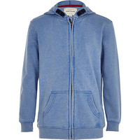 River Island Boys blue burnout hoodie