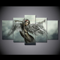 canvas art Printed fantasy angels warrior Painting Canvas Print room decor print poster picture canvas Free shipping/NY-5780