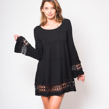 Lira Lara Bell Dress in Black