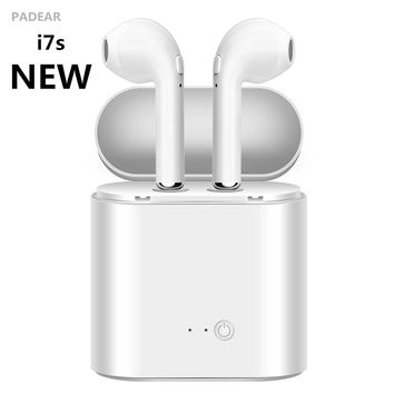 New Padear I7S C Wireless Bluetooth earphones Earbuds Stereo In-Ear Earphone Air Microphone Pods for Iphone Apple Android