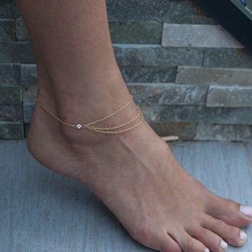 Fashion Chain Anklet Bracelet Foot Ankle Women Lady Jewelry Elegant = 4672421764