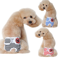 Cute Pet Dog Panty In Season Sanitary Pants For Female