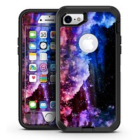 Purple and White Unfocued Orbs of Light - iPhone 7 or 7 Plus OtterBox Defender Case Skin Decal Kit