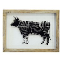 ''Chopped Cow'' Framed Wall Art