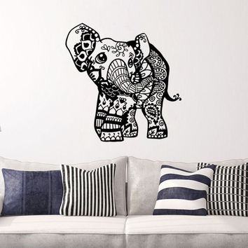 Baby Elephant Vinyl Wall Decal