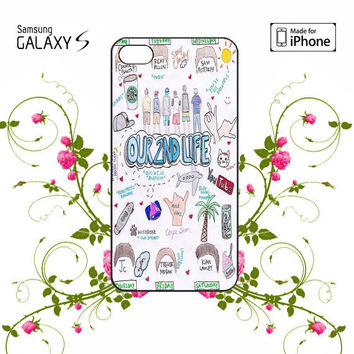 O2L Our Second Life Lyric iPhone 4/4S / 5/ 5s/ 5c case, Samsung Galaxy S3/ S4 / S5  case, iPod Touch 4 / 5 case