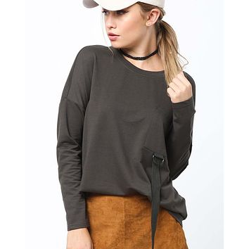 Easy Tie Tee in Olive