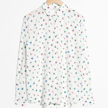 Silk Shirt - Tropical Print - Blouses - & Other Stories US