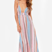 Maxin' Relaxin' Multi Print Maxi Dress