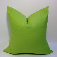 Apple green decorative pillow cover, solid accent pillows, sofa pillows
