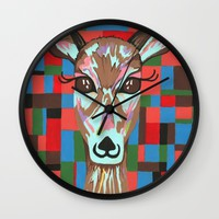 Darling Deer Wall Clock by Kathleen Sartoris