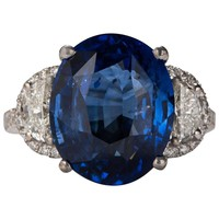 10.22ct Sapphire and Diamond Ring
