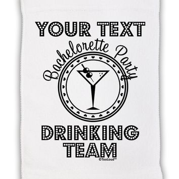 """Personalized -Name- Bachelorette Party Drinking Team Micro Terry Sport Towel 11""""x18"""