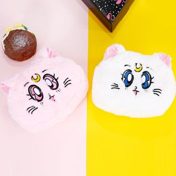 Fluffy/ Plush Anime Japanese Kitten Coin Purse
