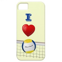 I LOVE  VOLLEYBALL iPhone 5 Case from Zazzle.com