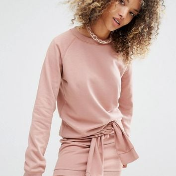 Daisy Street Relaxed Sweatshirt Co-Ord at asos.com