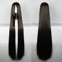 120cm long straight cheap synthetic long black wig straight,Colorful Candy Colored synthetic Hair Extension Hair piece 1pcs WIG-256A