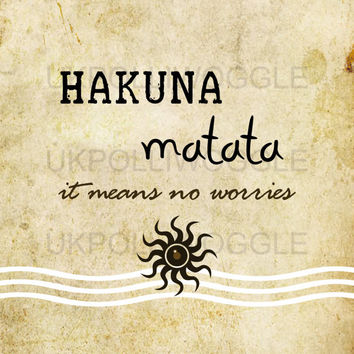 Hakuna Matata,The Lion King quote Poster,Timon & Pumba, minimalist, wall decor, typography, Modern, Classic