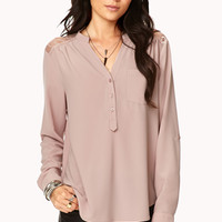Essential Lace Paneled Top | FOREVER 21 - 2000051110