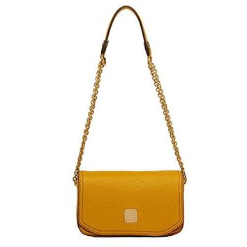 MCM Authentic FIRST LADY Mini Shoulder Bag - Mustard MWS3AAF08YM (Only 1 Left)