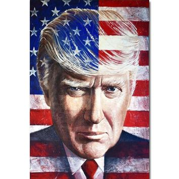 J3211- DONALD TRUMP 45TH PRESIDENT IMAGE Gloss Pop 14x21 24x36 Inches Silk Art Poster Top Fabric Print Home Wall Decor