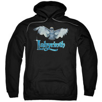 LABYRINTH/TITLE SEQUENCE-ADULT PULL-OVER HOODIE-BLACK