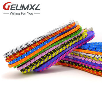 1M 2M 3M Fabric Braided Cable Nylon 8PIN USB Data Sync Charging Charger for iphone 7 5s 5c 5 6 6S plus SE ipad mini air ios 10