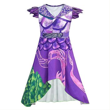 Adult Women Descendants 3 Mal Cosplay Dress Halloween Carnival Costume Dress Up