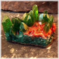 Glycerin Soap Crystal Geode Soap Rock Emerald Green by Soapsmith