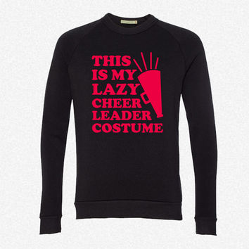 This Is My Lazy Cheerleader Costume fleece crewneck sweatshirt