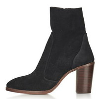 MAGNIFICENT Suede Sock Boots - Black