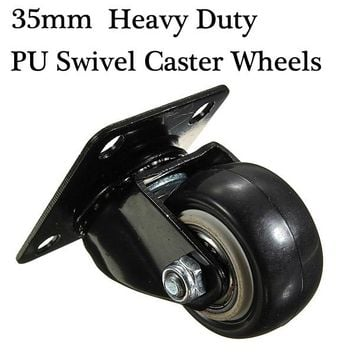 Heavy Duty PU Swivel Castor Wheels Trolley Furniture Caster Rubber
