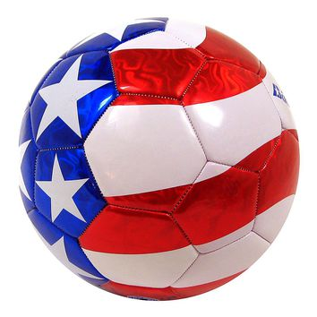 Baden Red White and Blue Soccer Ball - Official Size & Weight - Size 5