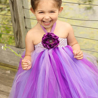 Deep Purple Toddler Tutu Dress 12 months to 2T by lovebug11