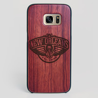 New Orleans Pelicans Galaxy S7 Edge Case - All Wood Everything