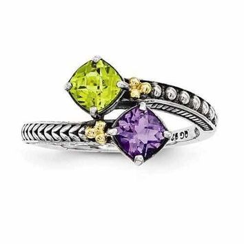 Unique Engraved Personalized Ring for Mother's W/ 14k Two Birthstones