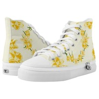 Daffodils illustration High-Top sneakers