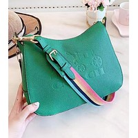 COACH Fashion New Leather Shopping Leisure Shoulder Bag Women Handbag Green