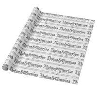 Vintage Notes And Queries Typograph Wrapping Paper