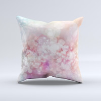 Unfocused Pink Abstract Lights  Ink-Fuzed Decorative Throw Pillow