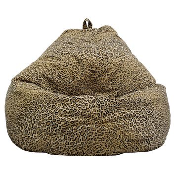 Large Tear Drop Safari Micro-Fiber Suede Bean Bag Cheetah