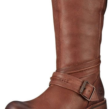 Timberland Women's Whittemore Mid Side-Zip Boot Dark Brown Woodlands