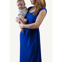 The Helena Maternity & Nursing Dress {Cobalt}