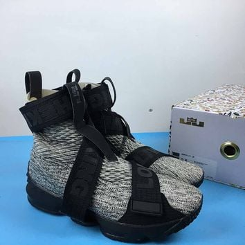 [Free Shipping ]  KITH x Nike LeBron Lifestyle 15 XV AO1068-100 Basketball Shoes