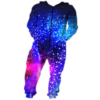 Galaxy colorful filled stars Onesuit