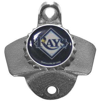 Tampa Bay Rays Wall Mount Bottle Opener MLB Licensed Bar Pub Man Cave Beer Soda
