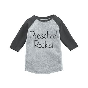 Custom Party Shop Kids Preschool Rocks School Raglan Tee