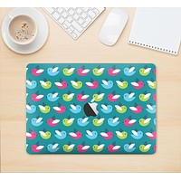 """The Vibrant Colored Vector Bird Collage Skin Kit for the 12"""" Apple MacBook"""