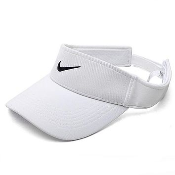 Nike Summer Outdoor Hat Women Men Baseball Sunshade Sun Hat Tennis Cap Cool Golf Baseball Cap Hat White I12424-1